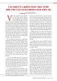 Vai trò của kiểm toán nhà nước đối với cải cách chính sách tiền tệ