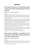 Nhu cầu tham vấn tâm lý và các yếu tố liên quan ở người cao tuổi xã Thủy Thanh, thị xã Hương Thủy, tỉnh Thừa Thiên Huế