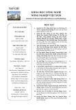 Tạp chí Khoa học Công nghệ Nông nghiệp Việt Nam: Số 1/2019