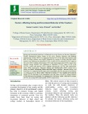 Factors affecting saving and investment behavior of the teachers