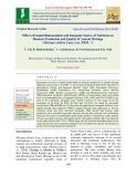 Effect of liquid bioinoculants and inorganic source of nutrients on biomass production and quality of annual moringa (Moringa oleifera Lam.) var. PKM – 1