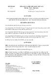 Quyết định số 263/2020/QĐ-BTP