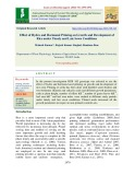 Effect of hydro and hormonal priming on growth and development of rice under timely and late sown conditions