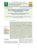 Effect of packaging and cushioning material used during road transportation on ripening behavior and storage of alphonso mango fruits