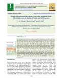 Impact of terminalia arjuna (Roxb.) leaf litter and hosted tasar silkworm excreta on quality of paddy and soil properties