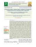 Chemical fruit quality of alphonso mango as influenced by packaging and cushioning material after long distance road transportation