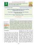Backcross breeding for enhancing minerals (Iron and Zinc) content in rice (Oryza sativa L.)