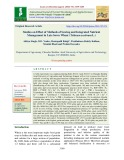 Studies on effect of methods of sowing and integrated nutrient management in late sown wheat (Triticum aestivum L.)