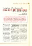 Những luận điểm sáng tạo của về vai trò của văn hóa Chủ tịch Hồ Chí Minh
