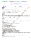 Kiểm tra 45 phút Chuyên đề Vật lý 11 - Chương 7: Chủ đề 5 - Phần Quang học