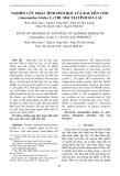 Nghiên cứu hoạt tính sinh học của rau dền cơm (Amaranthus lividus L.) thu hái tại tỉnh Gia Lai