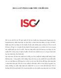 ISO là gì? Phân loại tiêu chuẩn ISO