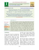Engineering properties of various agricultural residue