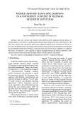 Mobile-assisted language learning in a university context in Vietnam: Students' attitudes