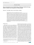 Drop-on-demand system for manufacturing of melt-based solid oral dosage: Effect of critical process parameters on product quality