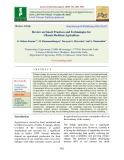 Review on smart practices and technologies for climate resilient agriculture