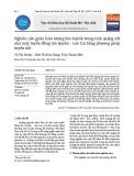 Nghiên cứu giảm hàm lượng lưu huỳnh trong tinh quặng sắt nhà máy tuyển đồng Sin Quyền - Lào Cai bằng phương pháp tuyển nổi