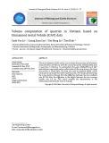 Ứng dụng công nghệ bay không người lái (UAV) trong đo đạc phục vụ công tác tính trữ lượng các mỏ đá tại Việt Nam