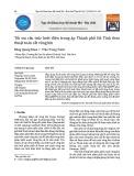 Tối ưu cấu trúc lưới điện trung áp Thành phố Hà Tĩnh theo thuật toán cắt vòng kín