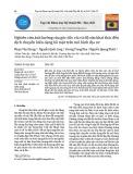 Nghiên cứu ảnh hưởng của góc dốc vỉa và độ sâu khai thác đến dịch chuyển biến dạng bề mặt trên mô hình địa cơ