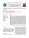 Ứng dụng mạng thần kinh nhân tạo dự báo độ lún công trình thủy điện