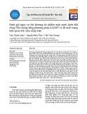 Đánh giá nguy cơ tổn thương do nhiễm mặn nước dưới đất vùng Tiền Giang bằng phương pháp GALDIT và đề xuất mạng lưới quan trắc xâm nhập mặn