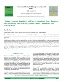Techno-economic feasibility of energy supply of water pumping in palestine by photovoltaic-systems, diesel generators and electric grid