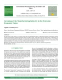 Greening of the manufacturing industry in the eurasian economic Union