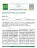 Foreign direct investment and carbon dioxide emissions: Evidence from capital of Vietnam