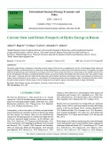 Current state and future prospects of hydro energy in Russia
