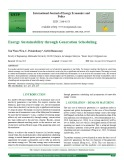Energy sustainability through generation scheduling