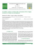 Feasibility analysis of a renewable autonomous power supply system at a coastal area in Indonesia