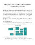 Tổng thể về module quản lý sản xuất trong giải pháp phần mềm ERP