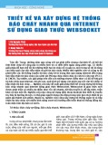 Thiết kế và xây dựng hệ thống báo cháy nhanh qua internet sử dụng giao thức Websocket
