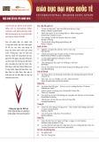 Tạp chí Giáo dục Đại học Quốc tế - Số 85 Kỳ Xuân 2016