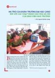 Vai trò của đoàn trường Đại học Cảnh sát nhân dân đối với các hoạt động văn hóa xã hội của sinh viên nhà trường