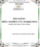 Bài giảng Nghiên cứu marketing: Phần 2 - ĐH Phạm Văn Đồng