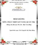 Bài giảng Phát triển Kỹ năng quản trị: Phần 2 - ĐH Phạm Văn Đồng