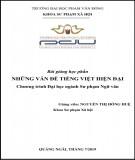 Bài giảng Những vấn đề tiếng Việt hiện đại: Phần 2 - ĐH Phạm Văn Đồng