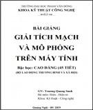 Bài giảng Giải tích mạch và mô phỏng trên máy tính: Phần 2 - ĐH Phạm Văn Đồng