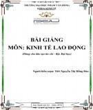 Bài giảng Kinh tế lao động: Phần 2 - ĐH Phạm Văn Đồng