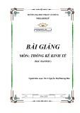 Bài giảng Thống kê kinh tế - ĐH Phạm Văn Đồng
