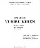 Bài giảng Vi điều khiển: Phần 2 - ĐH Phạm Văn Đồng