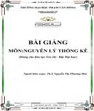 Bài giảng Nguyên lý thống kê: Phần 2 - ĐH Phạm Văn Đồng