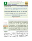Effect of different plant establishment techniques on yield and yield components of rice (Oryza sativa L.) varieties in east & south east coastal plain of Odisha, India