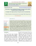 Performance of the agricultural extension personnel in the revitalized extension system in manipur, India