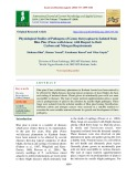 Physiological studies of pathogens of genus botryosphaeria isolated from blue pine (Pinus wallichiana) with respect to their carbon and nitrogen requirements
