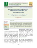 Extent of adoption level of improved maize production technology in Saharsa district of Bihar, India