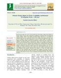 Climate change impact on water availability and demand of irrigation water - A review