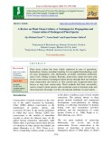 A review on plant tissue culture, a technique for propagation and conservation of endangered plant species
